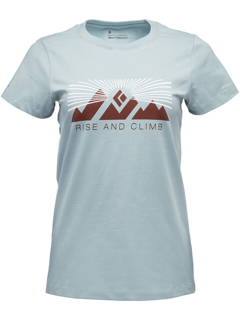 Black Diamond Rise And Climb - T-shirt manches courtes Femme - bleu